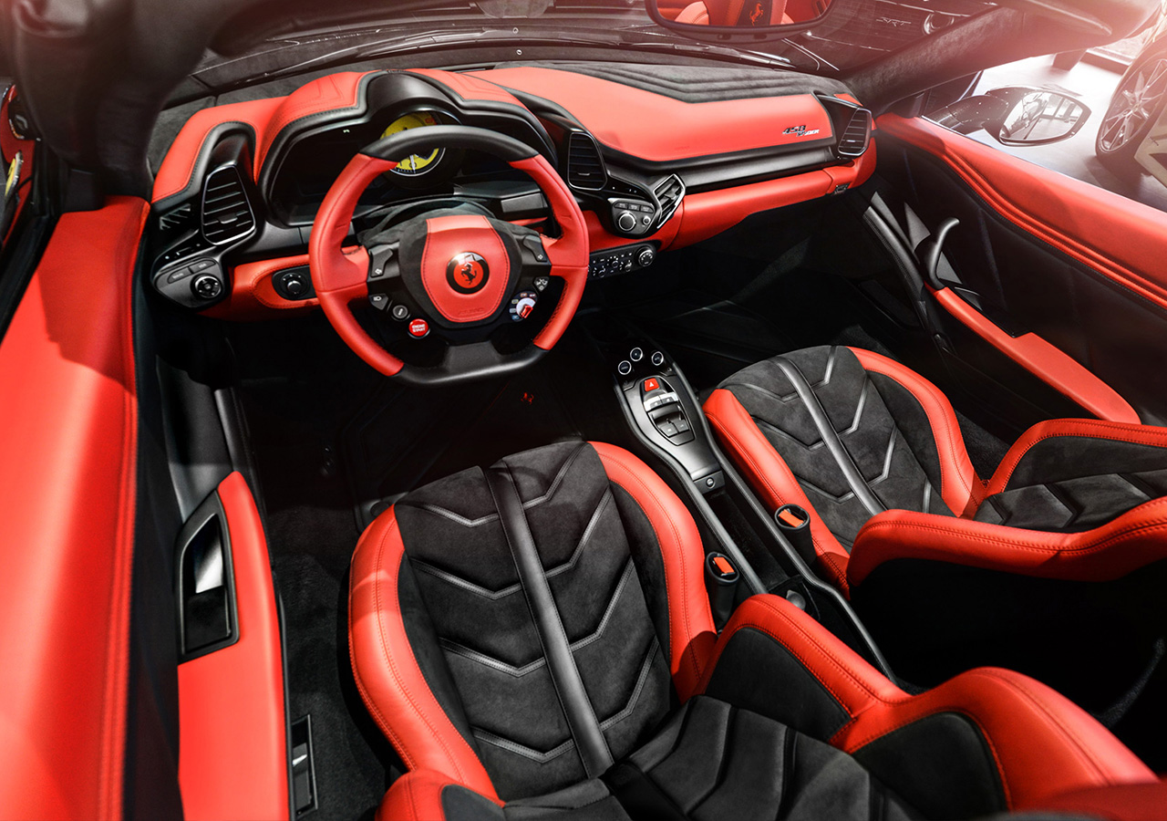 Ferrari 458 Spider by Carlex Design Interior Conversion